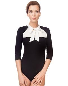 Чёрно-белая блузка-боди Viva La Donna Б 08-1
