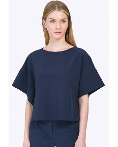 Тёмно-синяя блузка с широким рукавом Emka B2202/camilla
