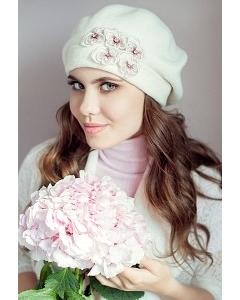 Комплект (берет и шарф) молочного цвета Landre Николь