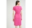 Розовое платье с коротким рукавом Emka PL905/mika