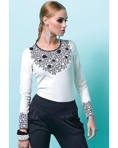 Белая блузка с длинным рукавом Zaps Sasha