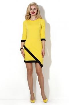 Летнее платье жёлтого цвета Donna Saggia DSP-07-53t