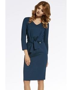 Классическое трикотажное платье Enny 220044