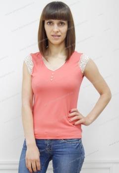 Летняя блузка кораллового цвета Sunwear N94-3
