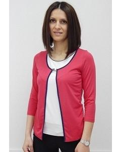 Красная блузка-обманка Sunwear N03-4