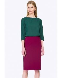 Офисная юбка цвета фуксия Emka S662/bonjour