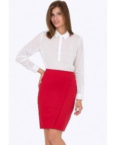 Красная юбка-карандаш Emka Fashion 626-adelina