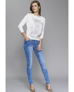 Женские синие slim джинсы Zaps Glenn