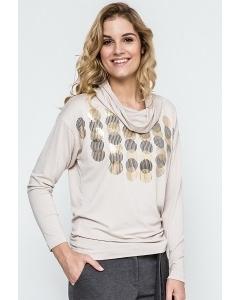 Бежевая трикотажная блузка Enny 240125