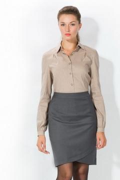 Светло-коричневая женская рубашка   4666/2