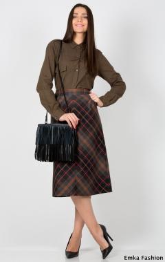 Юбка в клетку Emka Fashion 499-oksana