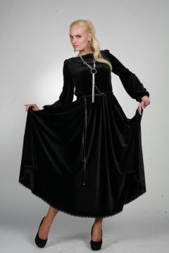 Длинное бархатное платье Chertina&Durre | 9959