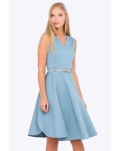 Летнее платье без рукавов с V-образным вырезом Emka PL-603/cosmopolitan