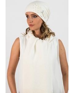 Женский шарф молочного цвета Kamea