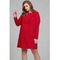 Красное романтическое платье Donna Saggia DSPB-31-56