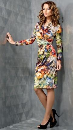 Трикотажное платье TopDesign B3 037
