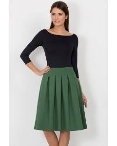 Юбка зеленого цвета Emka Fashion 552-extra