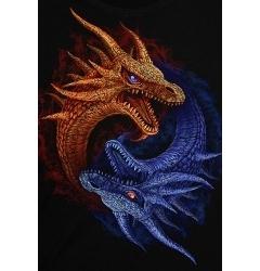 Женская клубная футболка Драконы Инь и Янь