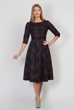 Платье в клетку цвета Emka Fashion PL-407/lolita