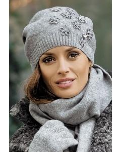 Молодёжная шапка серого цвета Kamea Marianella