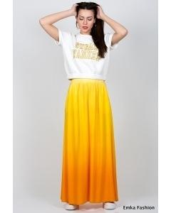 Длинная яркая юбка Emka Fashion 309-orian