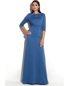 Длинное платье синего цвета Donna Saggia DSP-227-43t