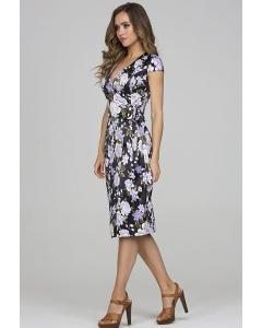 Летнее платье из атласной ткани Donna Saggia DSP-329-85