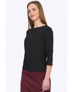 Лаконичная черная блуза Emka Fashion B2204/amouage