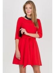 Летнее платье красного цвета Emka Fashion PL-411/joanna