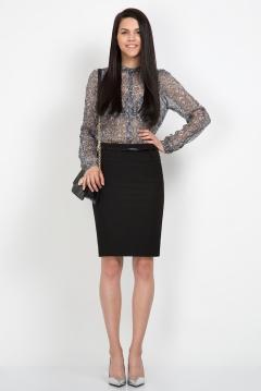 Чёрная юбка Emka Fashion 417-zlata