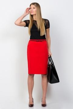 Красная юбка-карандаш Emka Fashion 559-madina