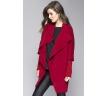 красное женское пальто