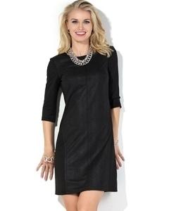 Черное короткое платье Donna Saggia DSP-134-4t