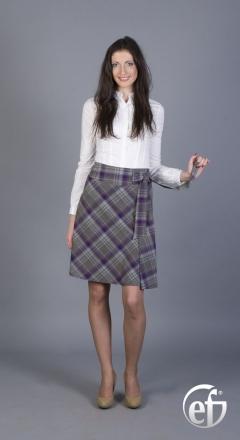 Клетчатая юбка Emka Fashion