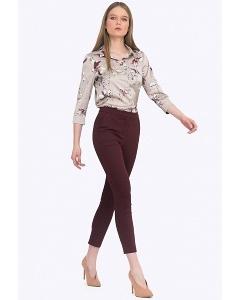 Безупречные облегающие брюки бордового цвета Emka D035/okelaniya