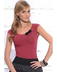 Блузка брусничного цвета Zaps Nikol
