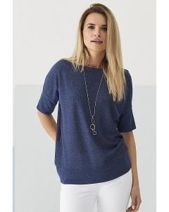 Тёмно-синяя блузка Sunwear Q40-3-30