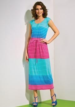 Яркое длинное платье TopDesign A4 092