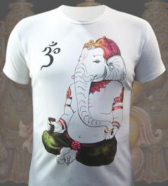 Мужская футболка Ганеш (светится в ультрафиолете)