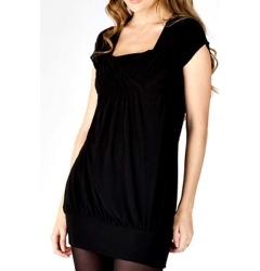 Короткое черное платье Golub