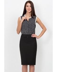 Юбка-карандаш чёрного цвета Emka Fashion 369-almaza