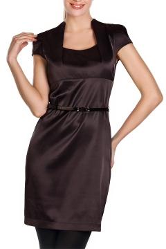 Платье шоколадного цвета | П128-1411