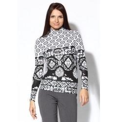 Женская черно-белая блузка