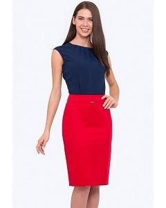 Красная юбка-карандаш на поясе Emka 369/aglaya