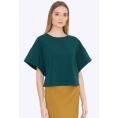 Зелёная блузка с широкими рукавами Emka B2202/eloisa