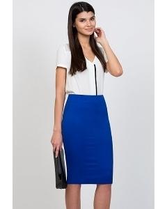 Юбка-карандаш синего цвета Emka Fashion 533-vasilisa
