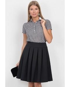 Чёрная юбка-полусолнце Emka Fashion 552-dorofeya