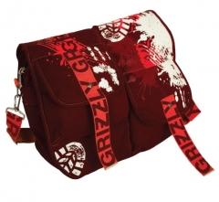 Стильная бордовая сумка Grizzly | СМ-1024