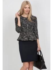 Офисная юбка тёмно-синего цвета Emka Fashion 458-sandra