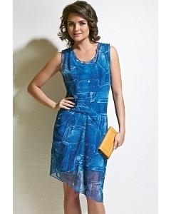 Летнее платье синего цвета TopDesign A4 152